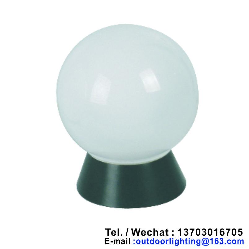 Round Ball Outdoor Garden Lights with E27 Ceramic Holder (Garden Lantern Lights Post Lamp)