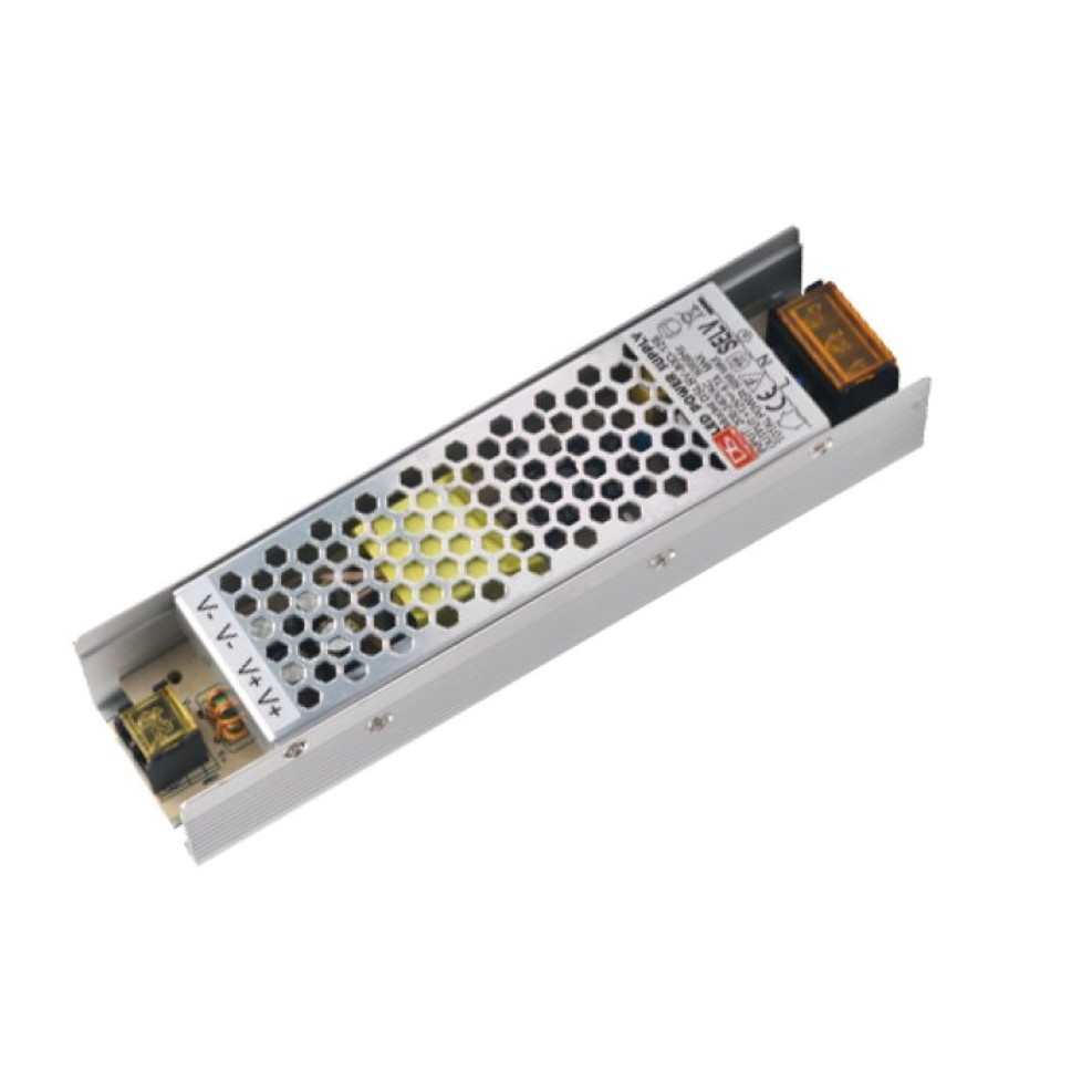 Ultra Slim Aluminum Housing IP20 LED Driver with 100 Full Power Output
