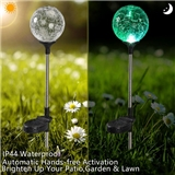 3D Solar decroation spike light 24led glass decoaration light