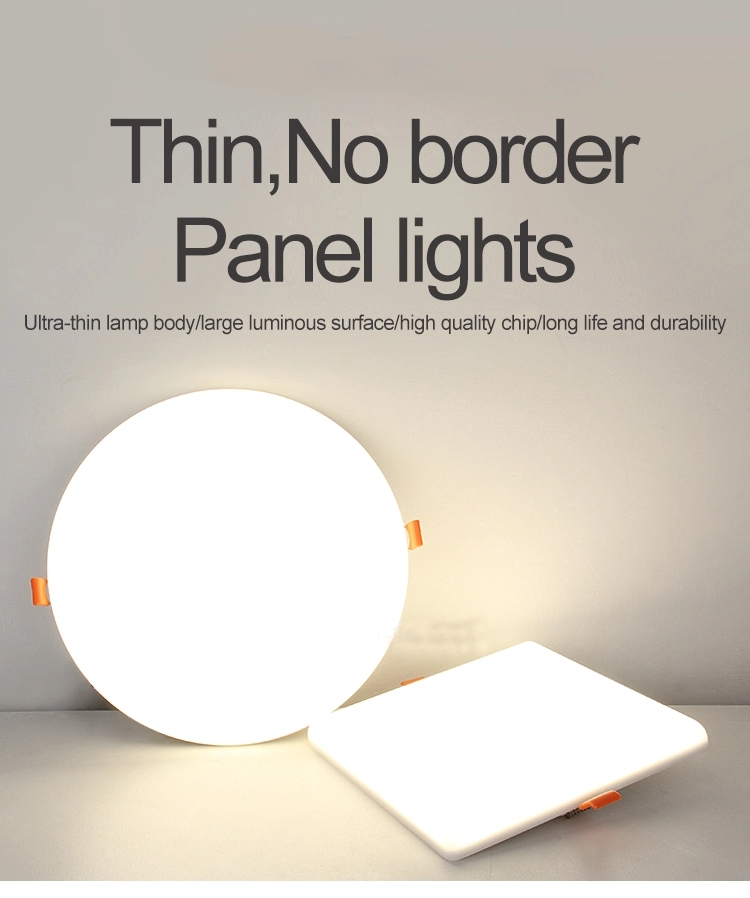 thin no border panel light no frame ceiling light
