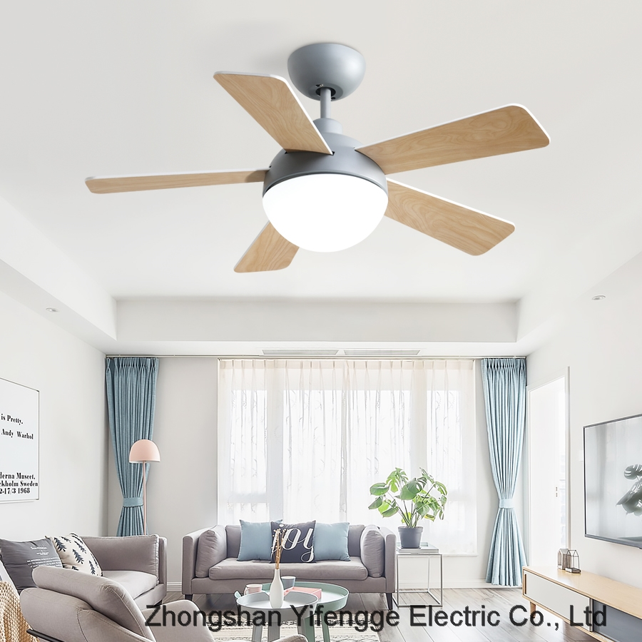 Nordic LED chandelier bedroom dining room variable frequency fan lamp