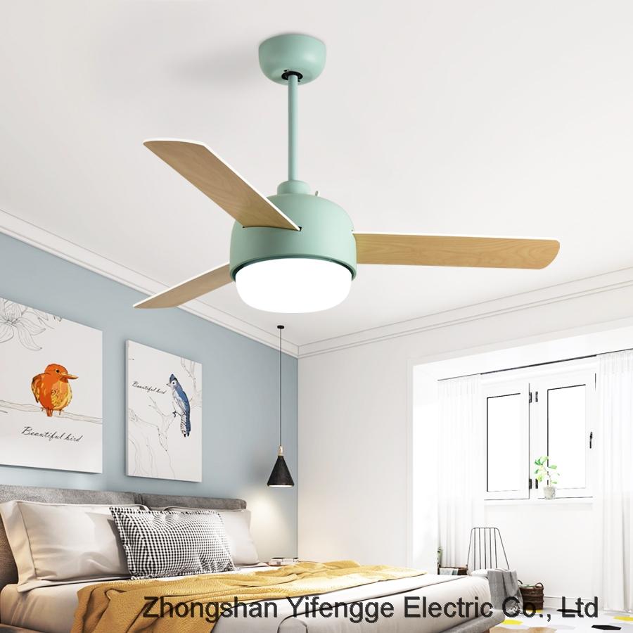 Bedroom simple modern fan lamp LED ceiling fan with light