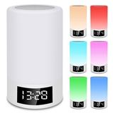Portable Colorful Smart LED Light Bluetooth Speaker Wireless Connection Hands-Free Answering