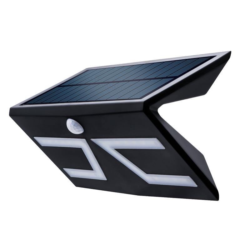 LED Outdoor Solar Wall Lamp Waterproof IP65 Motion Sensor Wall light Polycrystalline Panels