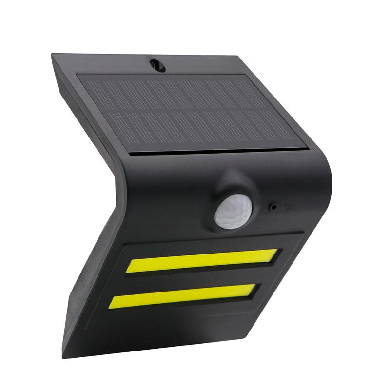 LED Outdoor Polycrystalline Solar Wall Lamp Waterproof IP65 Motion Sensor Wall light COB LED
