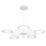 Modern simple matte white aluminum iron material shade hanging decorative fixture chandeliers pendan