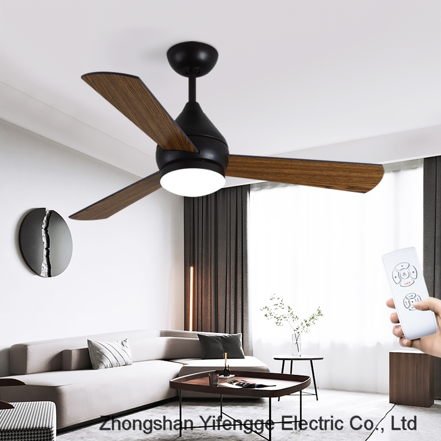 Nordic simple ceiling fan with Lamp Retro living room bedroom lamp