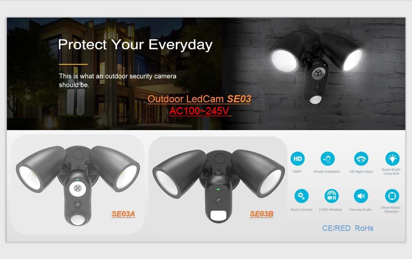 Guarden LedCam security light smart light