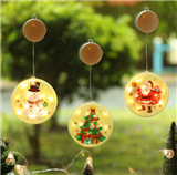 Battery Operated Hanging 3D LED Lamp Color Painting Christmas Holiday Decoration Night Light