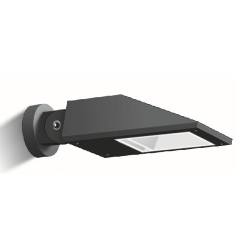 Modern matt black metal finish easy installation LED post top light