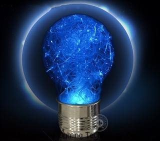 LED fiber optic bulb