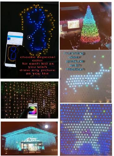 APP WIFI 420L FULL COLOR RGB LED CURTAIN LIGHT 24V24W