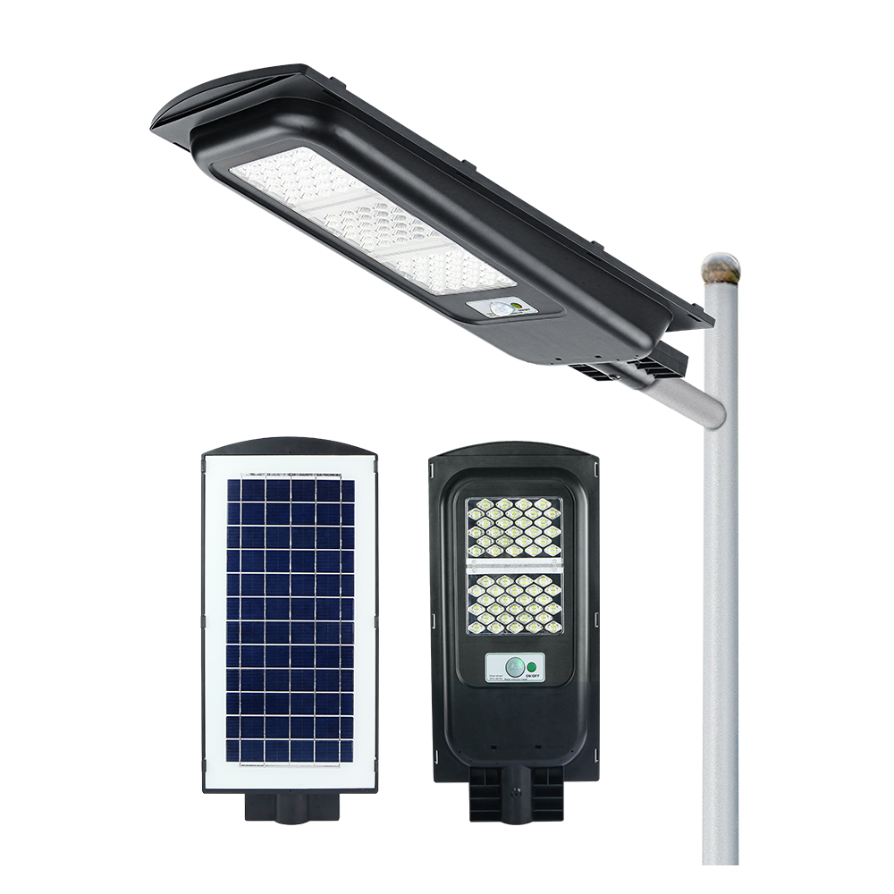 KCD Warm white lights smart wireless charge 100w 200w with remote control solar street lighting