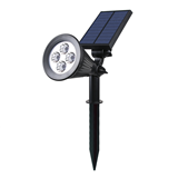 Super high brightness outdoor 4 leds solar spot lights and landscape yard lawn wall waterproof
