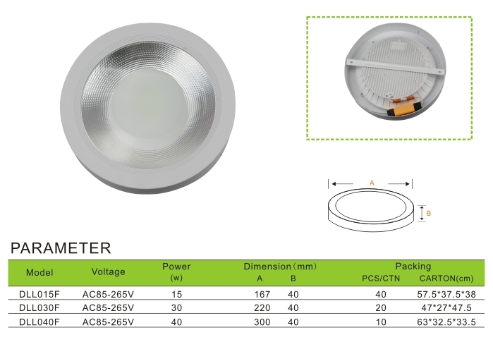 Down light surface mounted COB light
