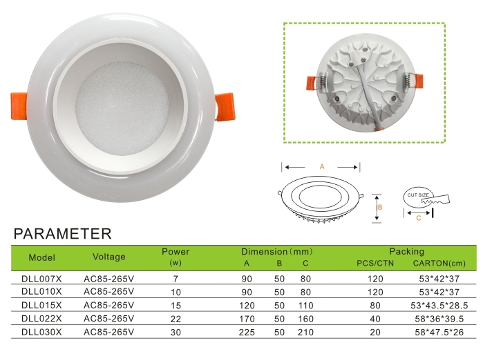 Down light recessed mounted