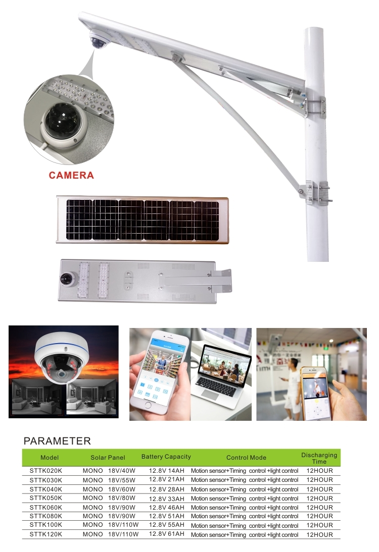 solar street light with camera