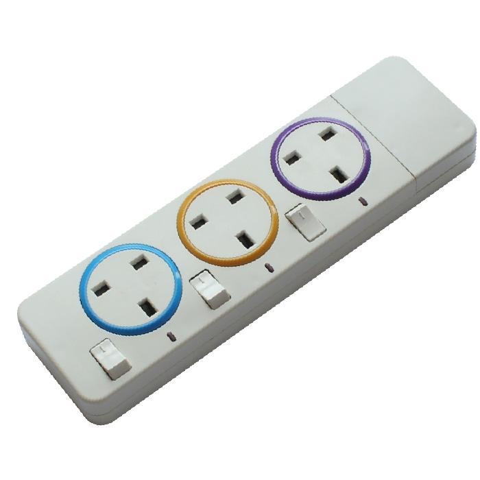 Extension socket movable socket 3 way socket