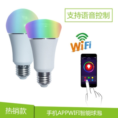 wifi smart bulb voice control wifi bulb smart bulb RGB+W E27 B22 E14
