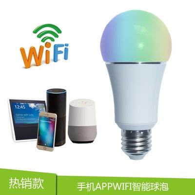 wifi smart bulb light amazon alexa echo google home voice smart bulb